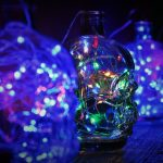LED Skulls - Empty Hot Sauce Bottles