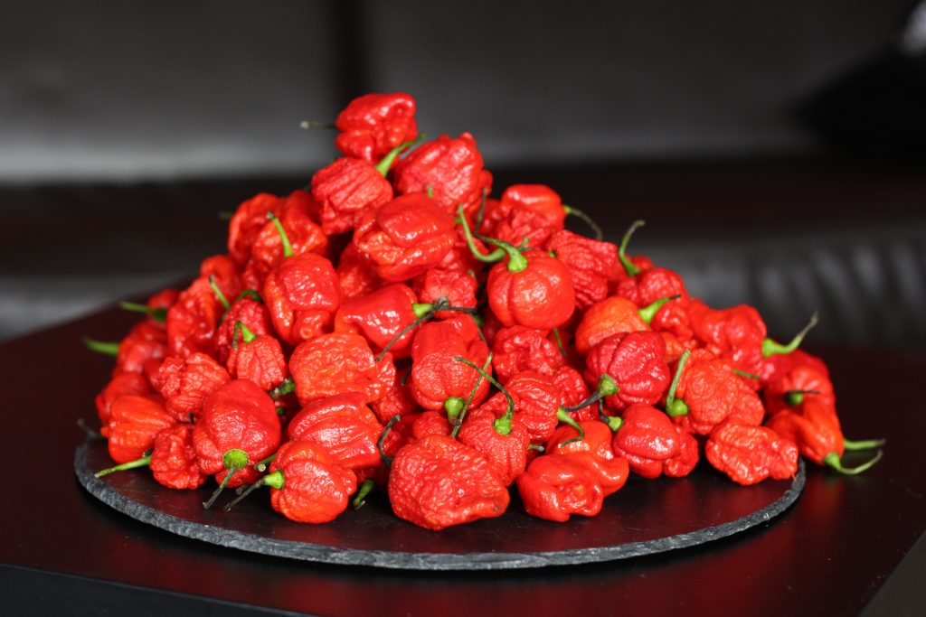 Some of the chillies we use - Carolina Reaper Hot Sauce