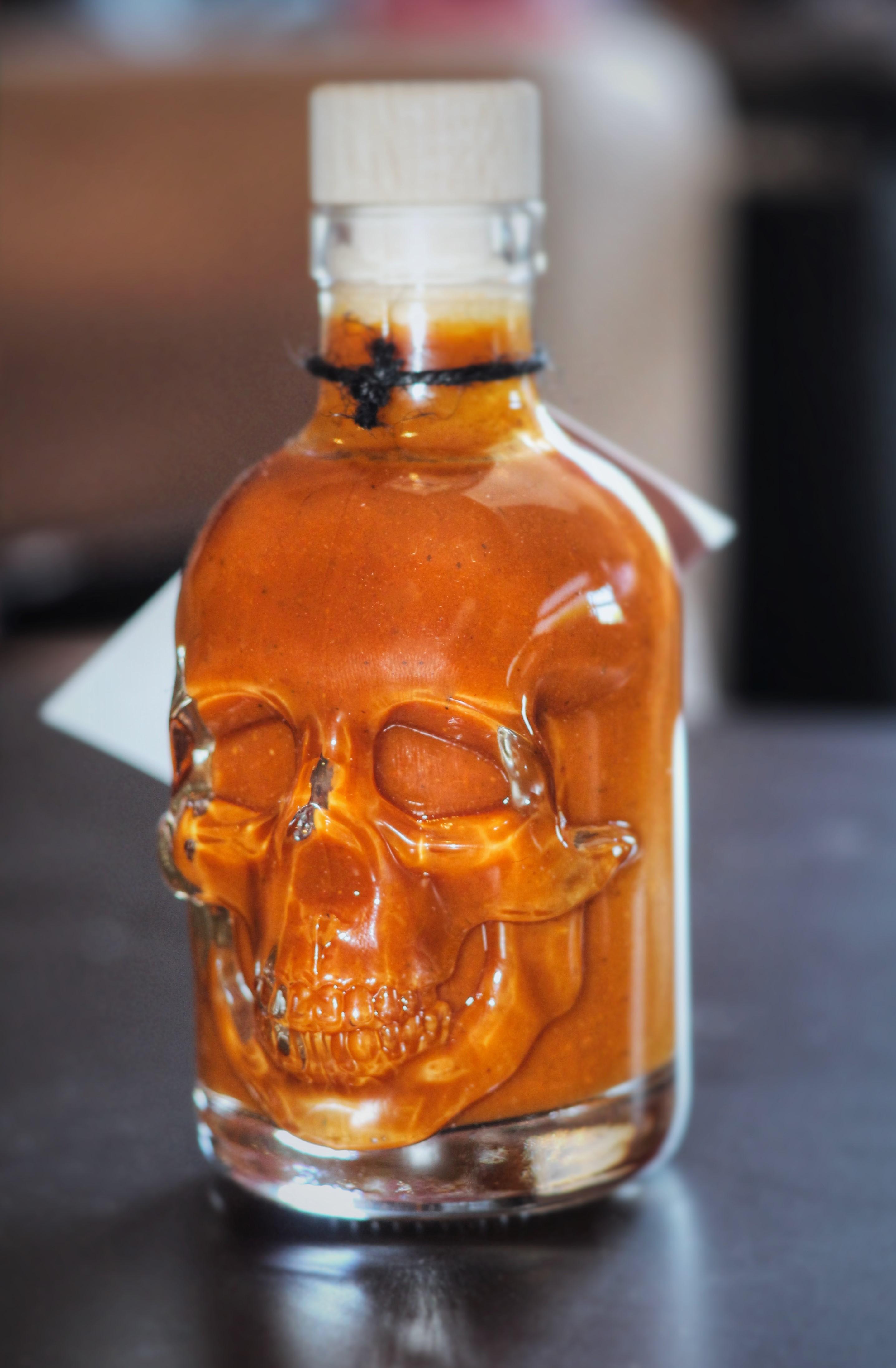 Carolina Reaper Sauce in a premium 3D glass bottle - Belfast Northern Ireland (UK / Irish)