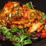 Irish Whiskey & Trinidad Scorpion BBQ Chicken Wings