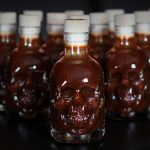 13 skulls extra hot BBQ sauce in 3D skull shaped bottle - Belfast Northern Ireland (UK / Irish)