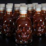 13 skulls extra hot BBQ sauce in 3D skull shaped bottle - Belfast Northern Ireland (UK / Irish)