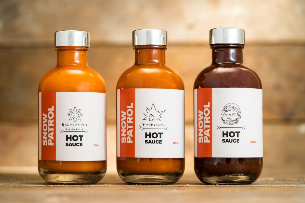 Snow Patrol Hot Sauce Bottles
